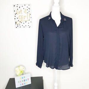 ZARA | Button Up Blouse